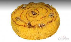 Tarta de Nuez con hilo de huevo