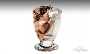 Copa de cristal de Nata y Chocolate