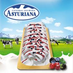 Etiqueta de Oro Yogurt Frutos Rojos
